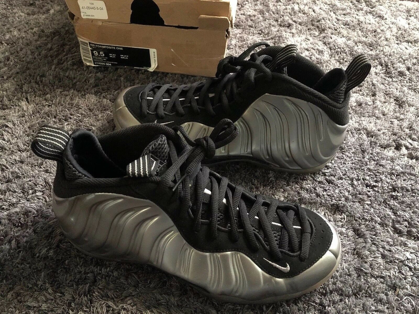 Nike AIR FOAMPOSITE ONE METALLIC PEWTER BLACK Size 9.5 314996-004