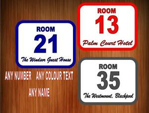 Hotel Room Door Numbers Guest House Room Door Numbers EBay - Chambre d039hotel design