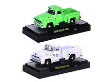 AUTO TRUCKS  1956 FORD F-100 2 CAR SET W/CASES RELEASE 21C 1/64 M2 32500-21C