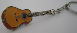 Guitar-Key-Ring-Keyring-Music-Gift-Present-Acoustic-Classical-Guitarist-Player