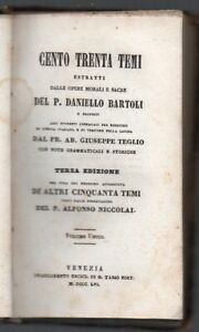 1856-ITALY-BOOK-130-THEMES-FATHER-BARTOLI-283-PAGES-HIGH-VALUE