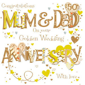 Mum-amp-Dad-Golden-50th-Wedding-Anniversary-Greeting-Card-By-Talking-Pictures-Card
