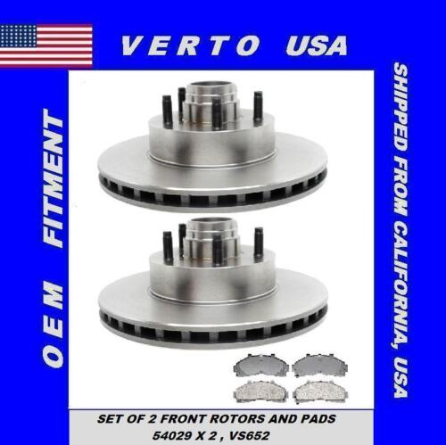 Mazda Mercury 285 mm Front Brake Rotors+Pads Fit Ford Based on Fitment Chart