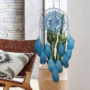 Blue-Lace-Dream-Catcher-Feather-Handmade-Car-Home-Wall-Hanging-Decor-Ornament