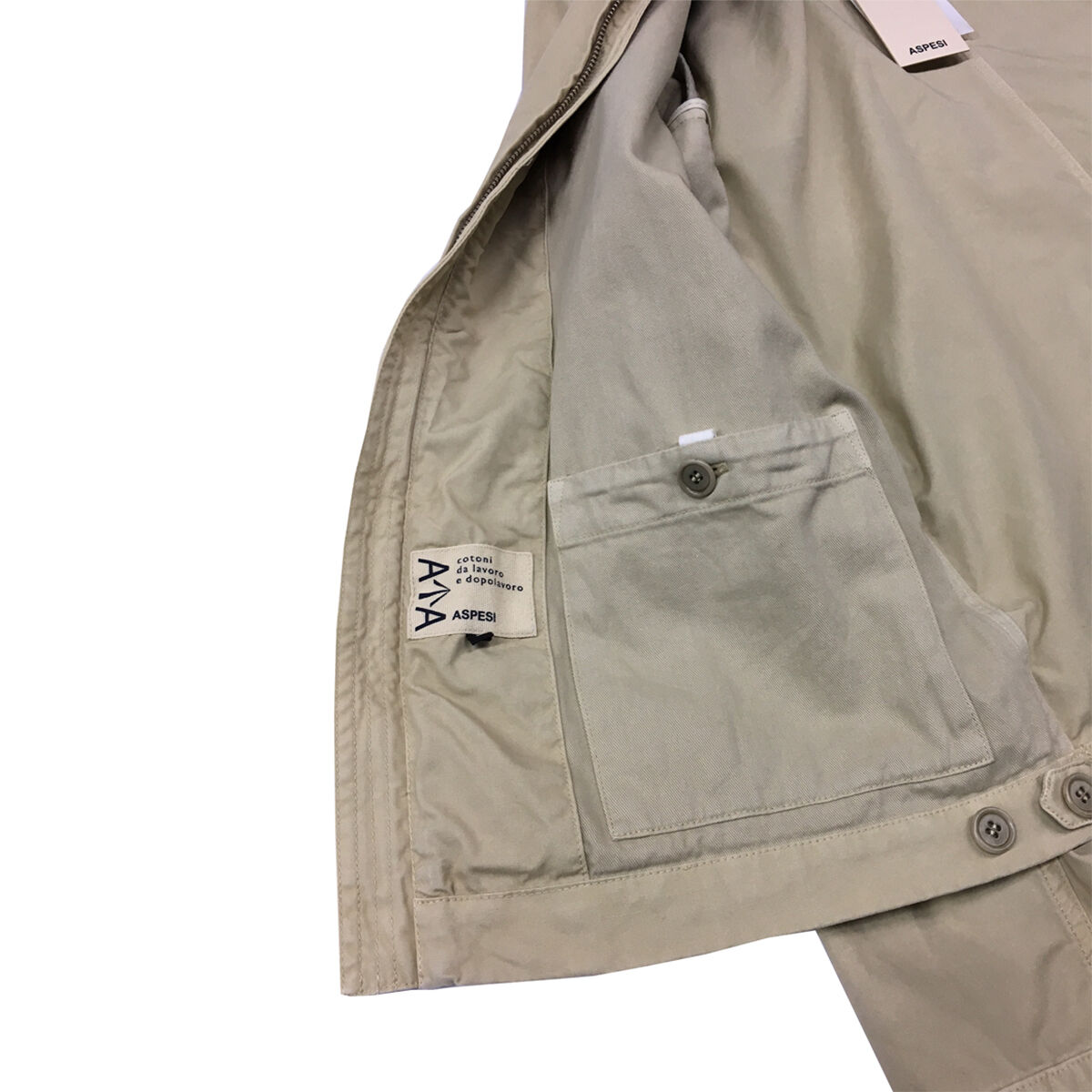ASPESI giubbotto uomo con zip begie mod mod mod NEW FENDER A CG37 B253 71746a