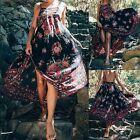 Robe d'été femmes Boho longue sans manches Floral Maxi soirée parti robe plage