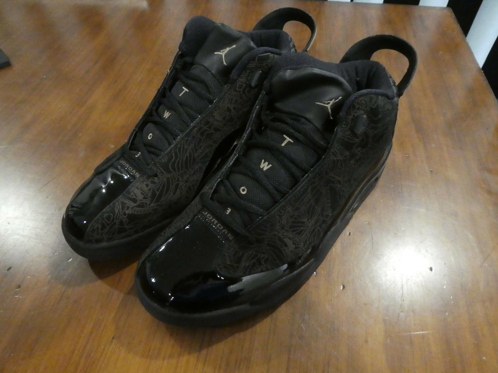 Nike Air Jordan Dub Zero mens shoes 311046 001 used size 12 black Seasonal clearance sale