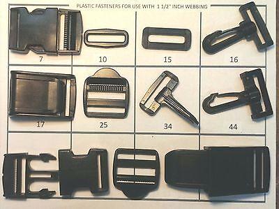 "Snap Hook 2/"" Cam Buckle Side Release Ring Ladder Rack Heavy Duty Slides"