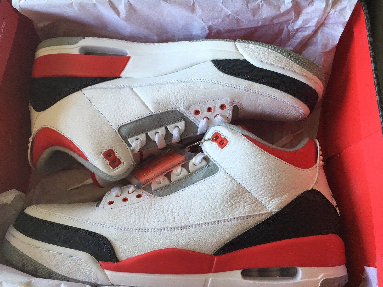New Air Jordan Retro 3 Fire Red Mens Size 13
