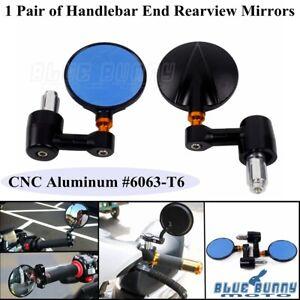 CNC-Aluminum-7-8-034-amp-1-034-Hnadlebar-Bar-End-Rearview-Side-Mirrors-For-Honda-Suzuki