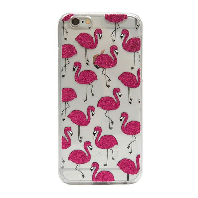 on sale c45ff 2dd98 SKINNY DIP London Flamingo Pink Glitter Girls Cover Case Apple iPhone 5 5s