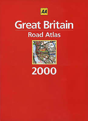 Great Britain Road Atlas 2000 (AA Atlases)-ExLibrary