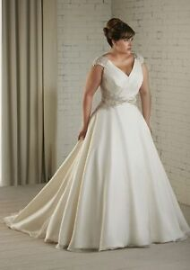 dea7d1142a New White Ivory Plus Size Wedding Dress Bridal Gown Custom 16 18 20 ...