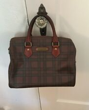 Vintage Polo Ralph Lauren Tartan Plaid Speedy Handbag Purse
