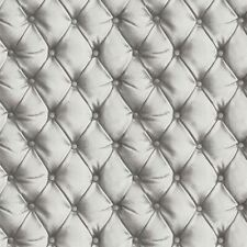 DESIRE CHESTERFIELD LEATHER EFFECT WALLPAPER SILVER - ARTHOUSE 618104 OPERA