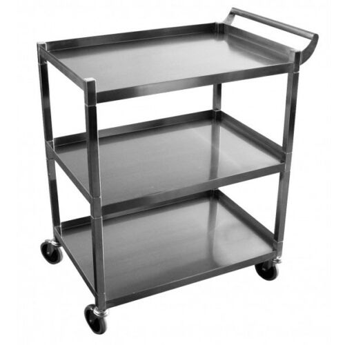 Utility Cart Stainless Steel 350Lbs Load