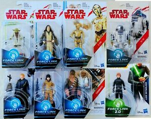 Star-Wars-Force-Link-3-75-Inch-Action-Figures-Luke-R2-D2-Yoda-Obi-Wan-C-3PO