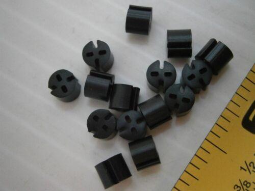 """lot of 100 #963 Bivar ELM 1-170 LED mount spacer standoff black pvc .170/"""" L"""