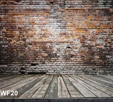 10X10FT Brick Wood Floor Vinyl Photography Backdrop Background Studio Props WF20