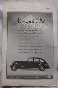 1944 Riley Original advert No1 - Blackburn, Lancashire, United Kingdom - 1944 Riley Original advert No1 - Blackburn, Lancashire, United Kingdom