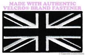 UK-BLACK-FLAG-PATCH-UNION-JACK-Great-Britain-ENGLAND-w-VELCRO-Brand-Fastener