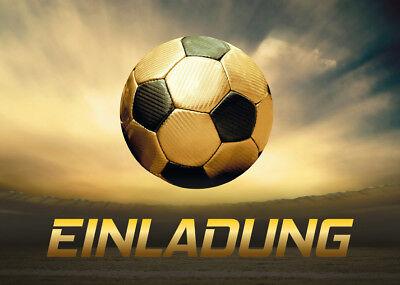 Einladungskarten Kindergeburtstag Jungen Fussball Fussball Geburtstag Einladung Ebay