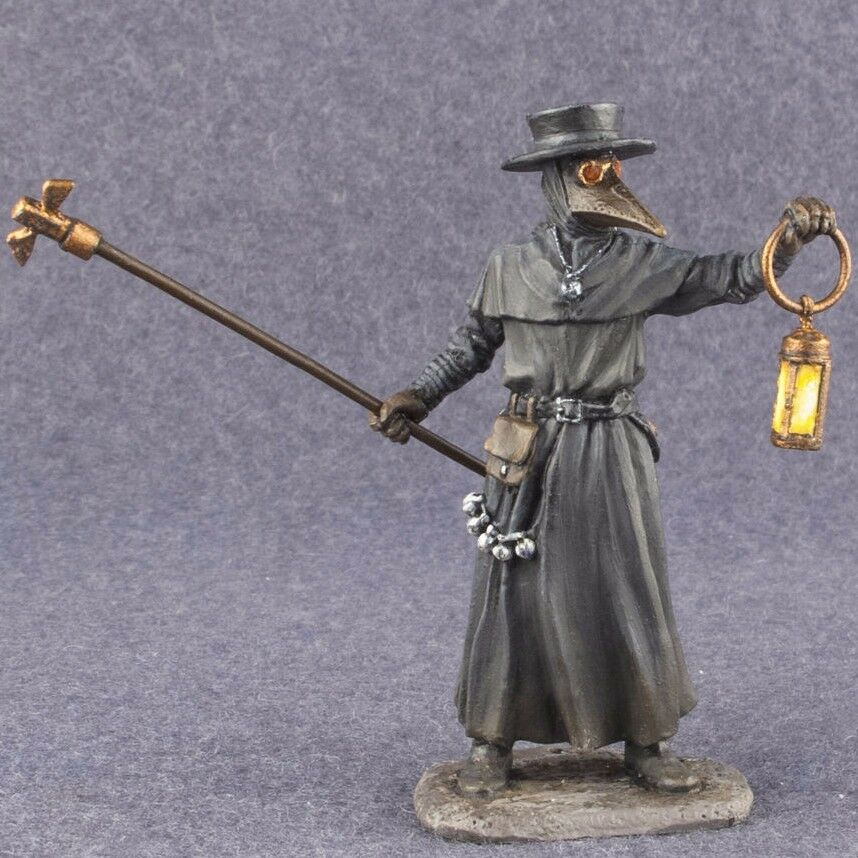 Toy Soldiers Painted PLAGUE DOCTOR Figure 54mm Medieval Civilian 1 32 scale Tin