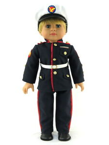 """Marines Inspired Pant Set Hat Fits 18/"""" American Boy or Girl Doll Clothes"""