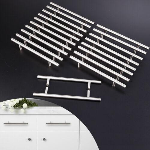 20//10x Poignée meuble Inox T Barre Décor Cusine porte Armoire tiroir avec Vis