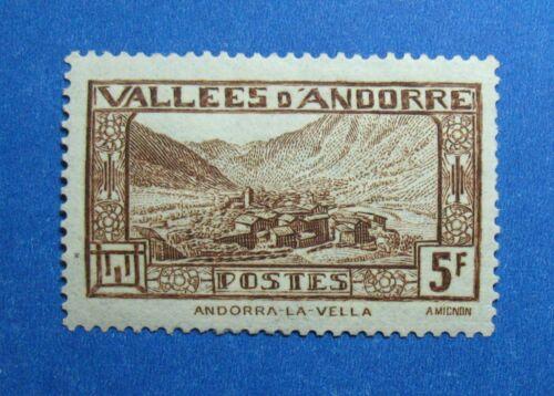 1932 ANDORRA FRENCH 5F SCOTT# 61 MICHEL # 45 UNUSED CS26439