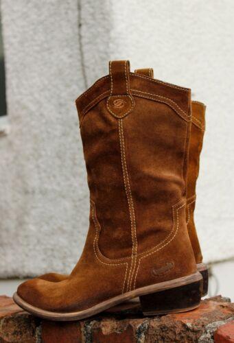 En 6 Cowboy 39 Bottes Eu Cuir Dockers Femmes Uk Western oBdxerC