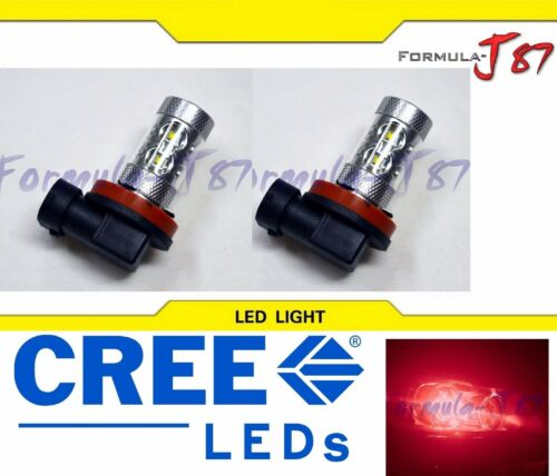 LED 50W H11 Red Two Bulbs Fog Light Replacement Plug Play Show Use Lamp OE