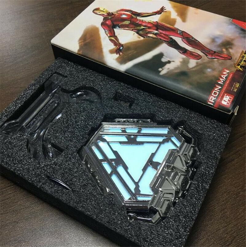 Marvel Iron Man arc reactor de Pecho Luz Led Luz De Aleación Modelo Modelo Regalos En Caja