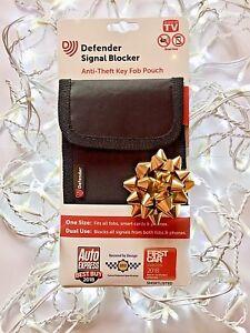 DEFENDER-SIGNAL-BLOCKER-POUCH-for-Car-Key-Fob-Mobile-Phone-Smart-Cards-Black