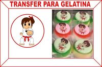 Hojas Para Transfer Gelatina Comestible Impresas Personalizada Español/ingles