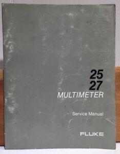 Details about Fluke 25/27 Multimeter SERVICE Manual *complete*