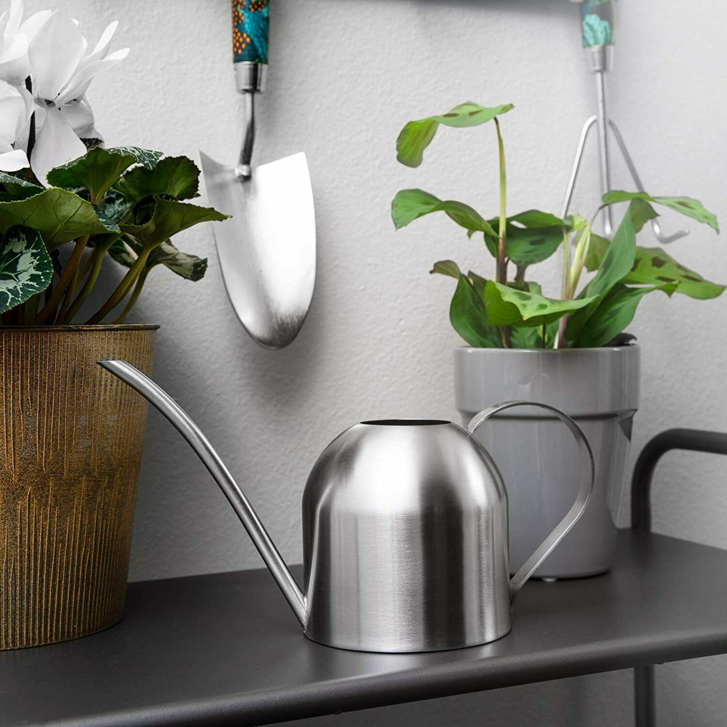 Wioslt Plant Watering Can, Stainless Steel Watering Kettle Pot 17OZ / 500ML