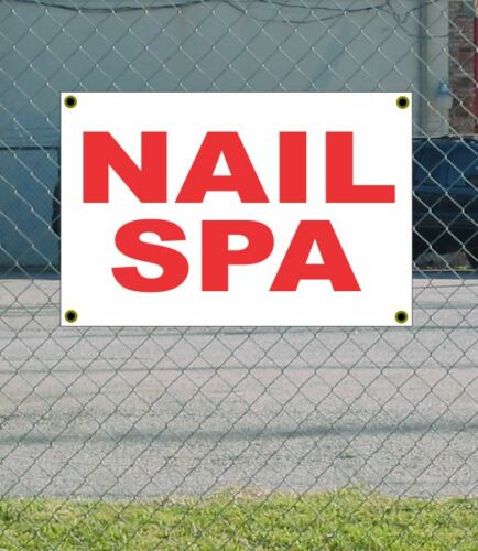 2x3 NAIL SPA Red /& White Banner Sign NEW Discount Size /& Price FREE SHIP