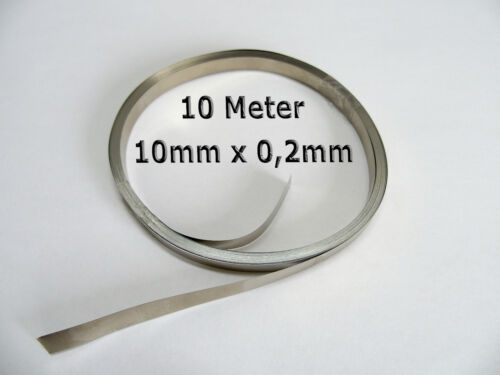 10 Meter 10mm x 0.2mm />99,5/% Nickelband Akkuverbinder Lötfahnen Hiluminband