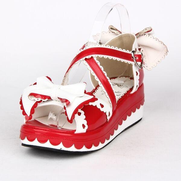 Gothic Goth Sweet Lolita Schuhe Schuhes Sandales Sandalen Platform Cosplay Cosplay Platform Kostüm bd6136