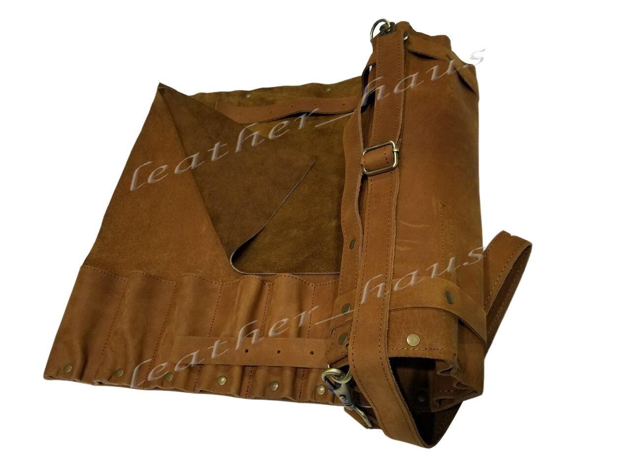 Professionnel Léger en cuir véritable 11 poches Chef Couteau Sac Roll  K01-11