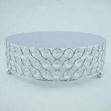 Designer Crystal Stainless Steel Cake Stand - 10 Inch Round, Bejeweled