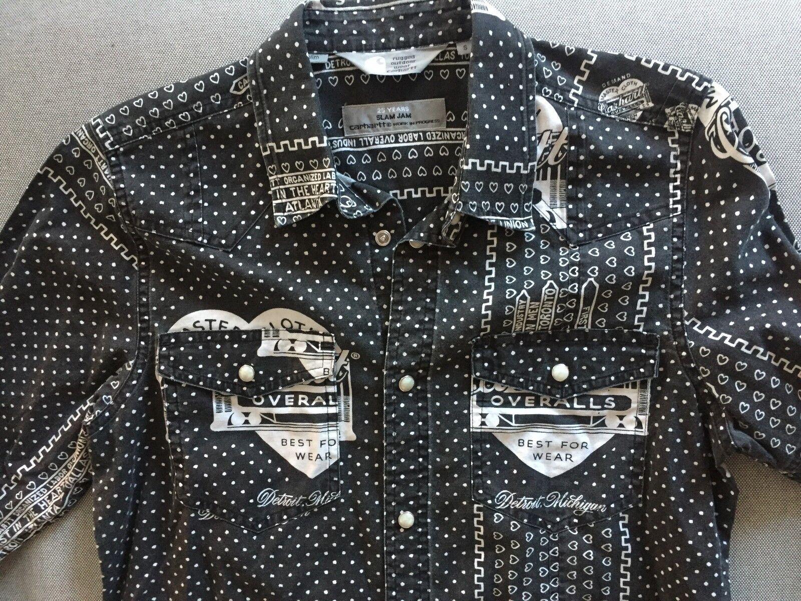 camicia SMALL shirt  CARHARTT  SLAM JAM TG SMALL camicia slim rare! 9dae28