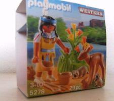 Playmobil Indianermädchen mit Waldtieren 5278 Neu & OVP Western Indianer