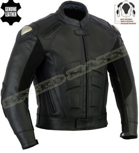 SPEED-ICON-MENS-PREMIUM-BLACK-CE-ARMOUR-MOTORBIKE-MOTORCYCLE-LEATHER-JACKET