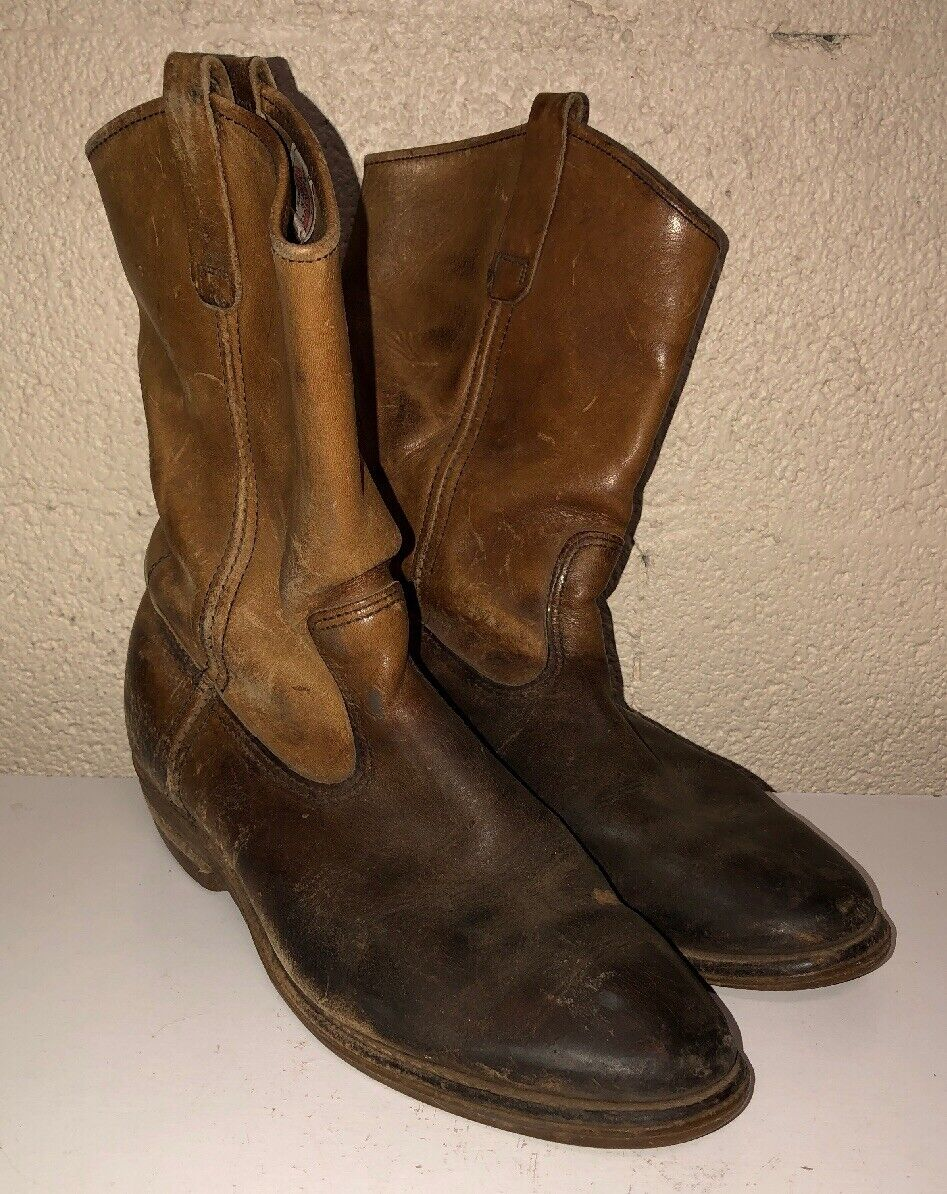 Red Wing Mens Brown Leather Boots Size 8