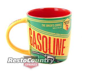 Gasoline Retro Mug / Cup coffee tea drink man cave bar work shop petrol oil gas