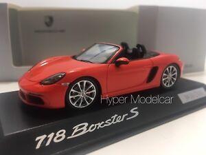 Minichamps 1/43 Porsche Boxster S 718 (982) Araignée 2016 Orange Art.   Wap0202050g