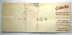 Image Is Loading Lou Reed Concert Ticket Stub 2000 Colston Hall