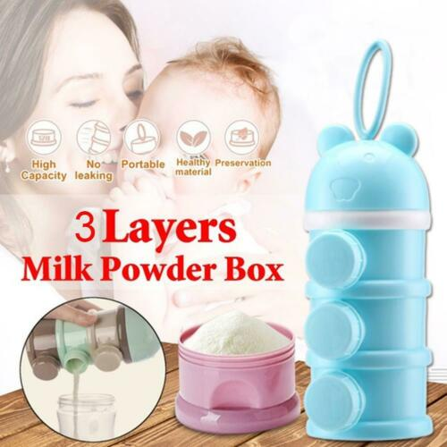 Large-capacity portable replaceable cartoon side-opening 3-layer milk powder box